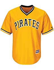 Majestic Pittsburgh Pirates Cool Base MLB Jersey classique jaune
