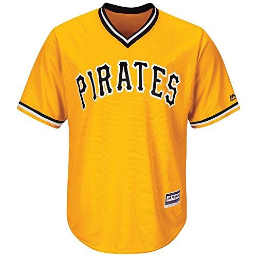 Majestic Pittsburgh Pirates Cool Base MLB Trikot Classic Gelb, L