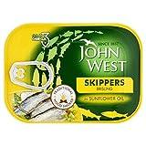 John West Skipper Di Legno Affumicato Alacce In Girasole 106g Olio (Confezione da 6)