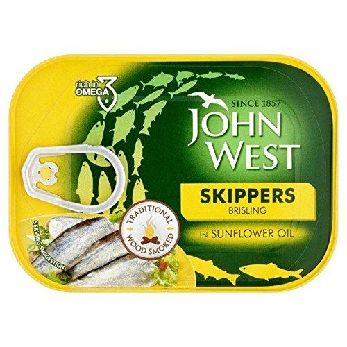 John Skippers West Wood Sprats Fumés Dans Le Tournesol 106G D'Huile - Paquet de 6
