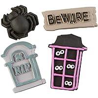 Food Items Decoraciones, Casa de galletas de Halloween, talla única
