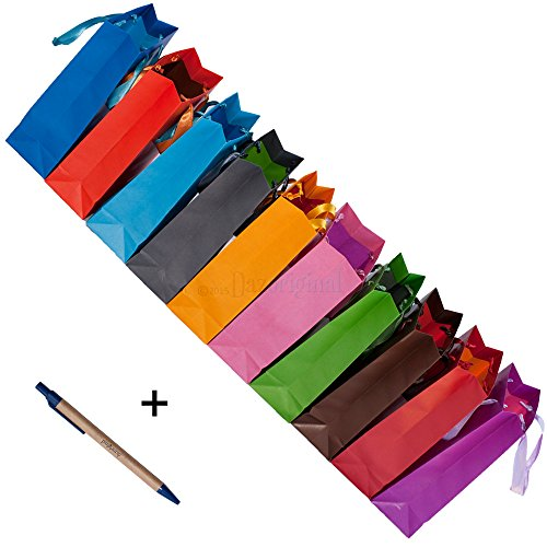 Dazoriginal Groß Geschenktaschen Papier Tragetasche Geschenktüten 10 Farben Papier Partytüten Papiertüten Geschenkbeutel Geschenktaschen Papiertragetaschen Papier Geschenk Taschen Geschenktüte Papiertasche Matt (Spider Alternative Man Kostüme)