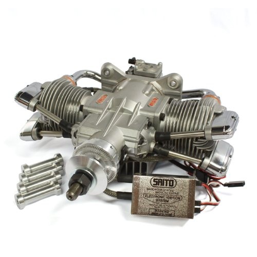 saitō Viertakt fg-57ts Twin Zylinder Benzin Motor (Motor Saito)