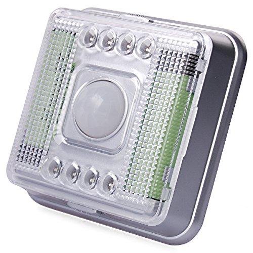 8 LED Licht Lampe PIR Auto Sensor Bewegungsmelder Kabellos Tag/Nacht Birnen von Xcellent Global -