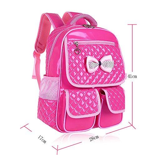 KINDOYO Jungen Mädchen Wasserdichte Rucksack für Kinder Unisex Schulrucksäcke Rucksack für Reisen, Wandern Rose-B