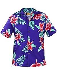 New Mens True Face Hawaiian Parrot Big Flower Small Flower Shirts