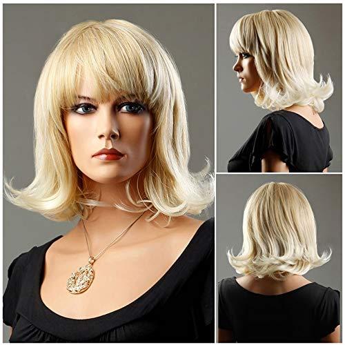 LYYJF Damen Perücke Kurz Haar Chemische Faser Mittellanges Haar Hitzebeständig Synthetische Natürlich Cosplay Halloween Hochzeit die Frisur