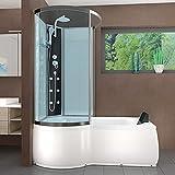 AcquaVapore DTP8050-A000R Wanne Duschtempel Badewanne Dusche Duschkabine 98×170, EasyClean Versiegelung der Scheiben:2K Scheiben Versiegelung +79.-EUR - 2