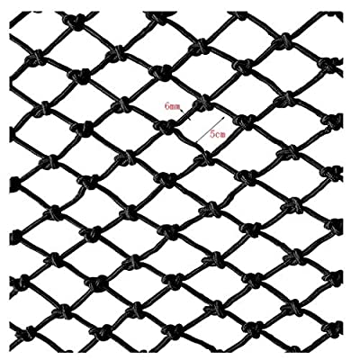Nylon Rope Net Black, Stairs Anti-fall Net Children Safety Net Balcony Obstacle Net Garden Decoration Net Kindergarten Playground Fence Net Can Be Cut 1x2m3m4m (Size : 10 * 10M(33 * 33ft))