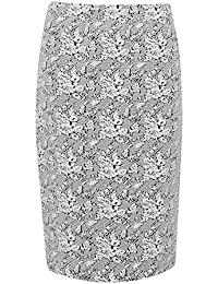 Great Plains Womens Trellis Pencil Skirt in Seasalt/Black