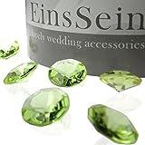 EinsSein 100x Funkelnde Diamantkristalle 12mm hellgrün