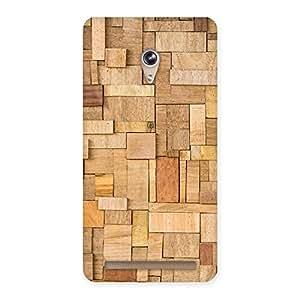 Wood Blocks Pattern Back Case Cover for Zenfone 6