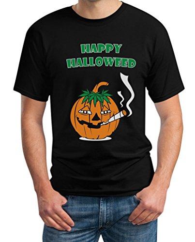Happy Halloweed Cooles Halloween Outfit Kürbis Dope T-Shirt XXXX-Large Schwarz