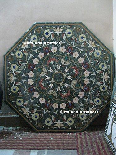 Gifts And Artefacts 121,9cm Octagon grün marmor Sofa Center Tisch Top Einlage handgefertigt Blumen Design - Marmor Top Sofa Tisch