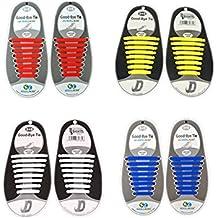 Keine Krawatte Wasserdichte Schnürsenkel für Kinder und Erwachsene, flache elastische Silikon Schuhspitze mit mehrfachen Farben für Sneaker Stiefel Brettspiele und Freizeitschuhe