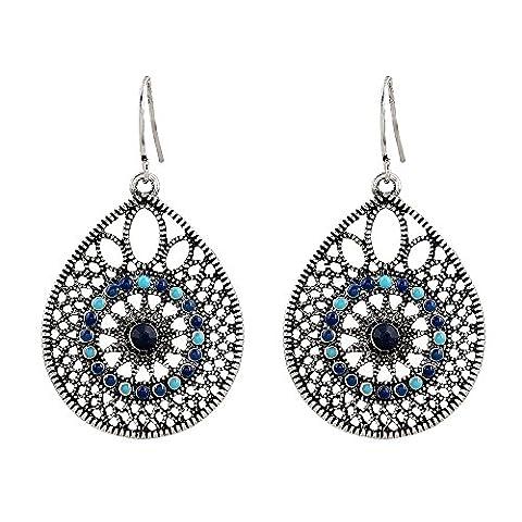Forever & Moment Womens Handmade Filigree Enamel Dangle Drop Earrings