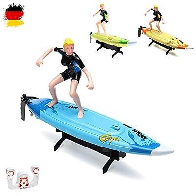 2.4GHz RC Surfer Boot inkl. Lenkradfernbedienung, Schiff, Rennboot, Speedboot Modellbau, Ready-to-Run, Top-Speed mit Akku, Neu von HSP Himoto