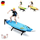 2.4GHz RC Surfer Boot inkl. Lenkradfernbedienung, Schiff, Rennboot, Speedboot Modellbau, Ready-to-Run, Top-Speed mit Akku, Neu