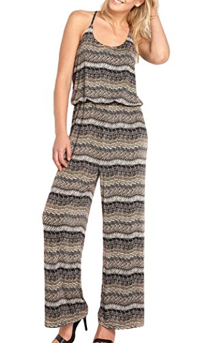 TopsandDresses Damen Jumpsuit Jumpsuit Gr. 46, multi - black beige ivory