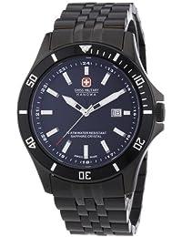 Swiss Military Hanowa 06-5161.7.13.007 - Reloj analógico de cuarzo para hombre, correa de acero inoxidable chapado color negro