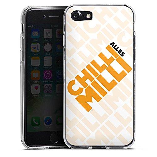 Apple iPhone X Silikon Hülle Case Schutzhülle LPmitKev Fanartikel Merchandise Alles Chilli Milli Weiss Silikon Case transparent
