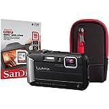 Panasonic DMC-FT30 Compact System Camera - Black (16 GB SDHC Class 10 Card,16 MP)