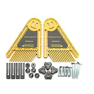 MOHOO 2x Featherboards Feder Loc Brett für Tischsägen Router & Tabellen Zäune Werkzeuge Gehrungsfugenlehre Slot Fenster und Türen DIY fuer Holzbearbeitung und Industriewesen usw.