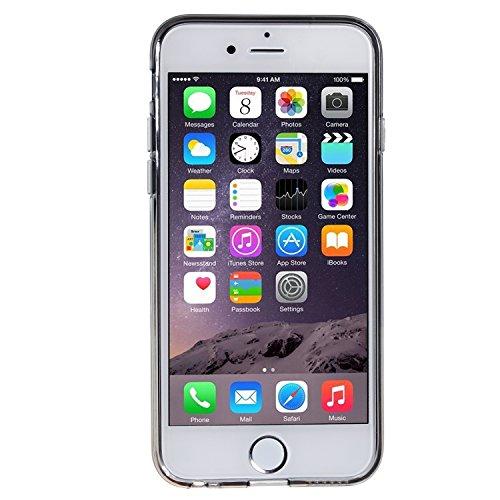 wortek TPU Silikon Schutzhülle Pure Color Einfarbig Apple iPhone 6 4,7 Zoll Rot Grau