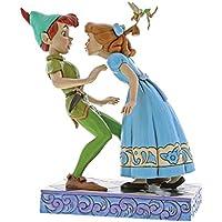 Disney Beso Inesperado-Figurina de Peter Pan y Wendy, Resina, Multicolor, 17.00x11.00x19.00 cm