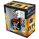 ABYstyle - One Piece - Confezione di Rufy - Bicchiere + Portachiavi + Mini Tazza