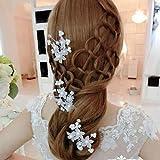 #9: AmberRoze Flower Faux Pearl Wedding Hair Pin-1Pc