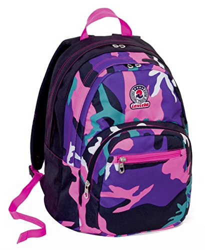 Rucksack Format - INVICTA - CAMOUFLAGE -Rosa 31Lt (Camouflage-rucksack Rosa)