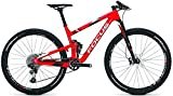 Focus O1E Team 29R Twentyniner Fullsuspension Mountain Bike 2017 (Rot/Weiss, M/45cm)