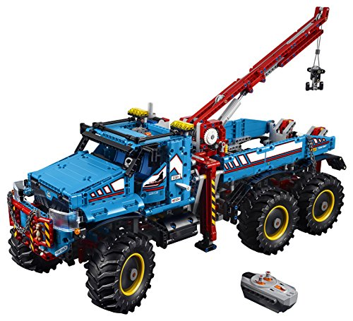 LEGO 42070 Technic 6x6 All Terrain Tow RC Truck Toy Motor Kit, 2 in 1 Model, Explorer Toy Vehicle, Power Functions Construction Set