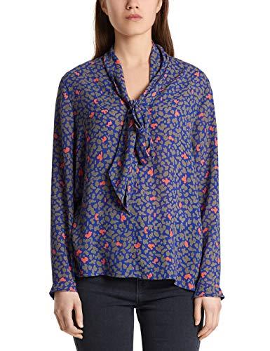 Marc Cain Collections Damen MC 51.10 W05 Bluse, Violett (Blue Violet 751), 40 (Herstellergröße: 4)
