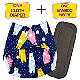 Bembika Washable Reusable Cloth Diaper Adjustable with 5 Layer Bamboo Charcoal Insert