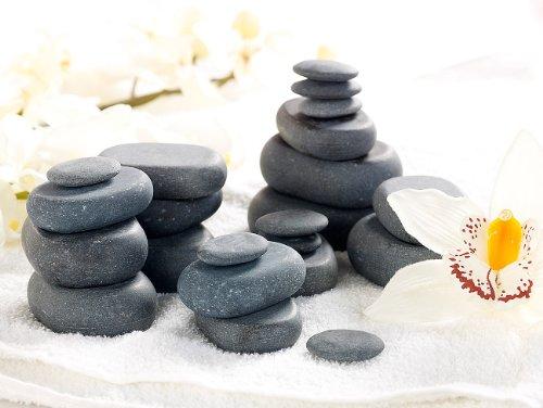 newgen medicals Professionelles Hot-Stone-Set: Wärmegerät & 23 Steine - 3