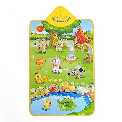 JWBOSS Musik Sound Singen Bauernhoftier Kind Spielende Decke Matte Teppich Spielmatte Kid