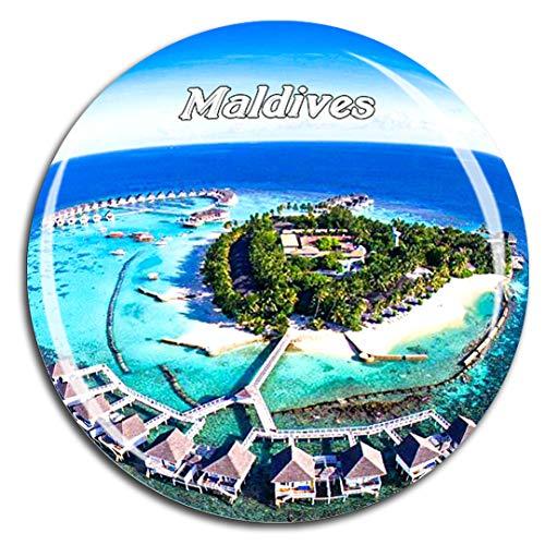 Weekino Centara Grand Island Resort Malediven Asien Kühlschrankmagnet 3D Kristallglas Touristische Stadtreise City Souvenir Collection Geschenk Starker Kühlschrank Aufkleber (Grand Stadt Island Von)