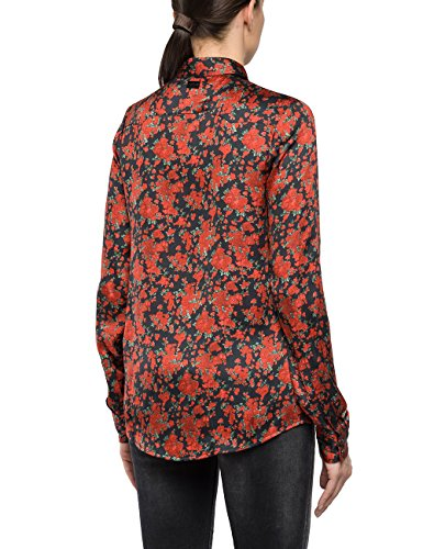 Replay, Blouse Femme Multicolore (Flower Print Red/black/green 10)