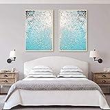kingxqq Moderne Wandkunst Seascape Leinwand Malerei Ocean Wave Poster und Drucke Nordic Dekoration Home Abstrakt Pastell Wandkunst Dekor 50x70x2Pcscm Kein Rahmen