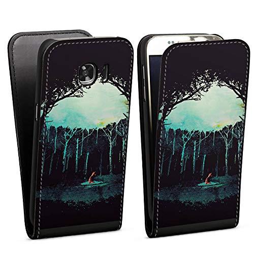 DeinDesign Flip Case kompatibel mit Samsung Galaxy S7 Tasche Hülle Wald Art Forest
