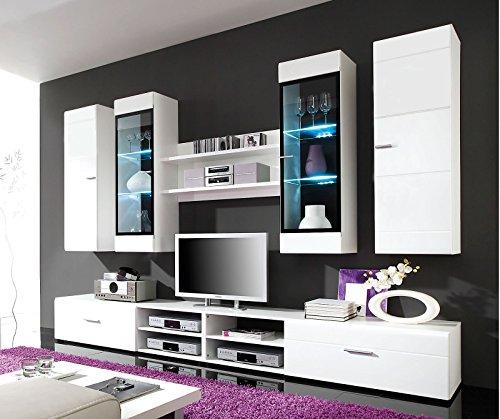 ROLLER Wohnwand PACE – weiß Hochglanz – mit Beleuchtung - 3