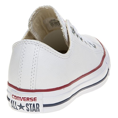 Converse Chuck Taylor Core Lea Ox, Unisex - Erwachsene Sneaker Elfenbein (White Monochrome)