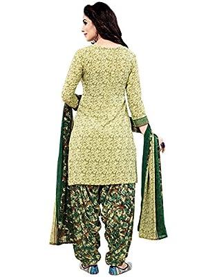 Jevi Prints Women's Dress Material (Rimzim-2007_Olive_Free Size)