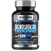 TEST XTREME® - The ULTIMATE Testosterone Support Supplement | Hardcore Sports Supplement | Supports normal Testosterone & Muscle Function | Zinc Level Booster | 120 Capsules