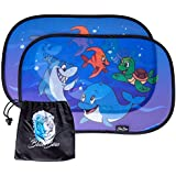 Car Sun Shade for Babies with UV Protection–Anti-Glare Lens Hood for Children with Animal Motifs–with practical Pocket  48x30cm