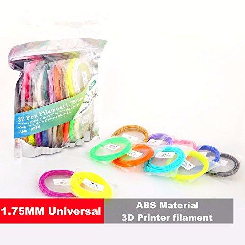 Preisvergleich Produktbild ABS Filament MOHOO 20pcsX5m ABS 3D Print Filament ABS 1.75mm 3D Druck Tinte für 3D Drucker