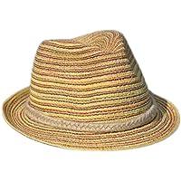 JUNGEN Gorras Mujer Sombrero de Paja de la Moda de Sombrero de Mujer con la línea Colorida Tapa de Protector Solar de Ocio para al Aire Libre o Viajar en Verano