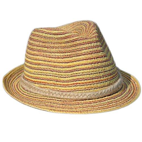 Aikesi Sombrero de Playa Mujeres Elegante Sombrero de Jazz Sombrero de Paja Gorro para el Sol Gorra de Visera Verano